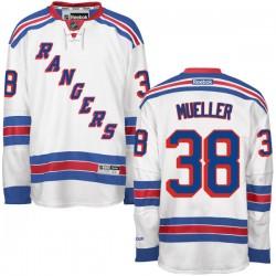 Adult Premier New York Rangers Chris Mueller White Away Official Reebok Jersey