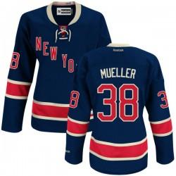 Women's Authentic New York Rangers Chris Mueller Navy Blue Alternate Official Reebok Jersey