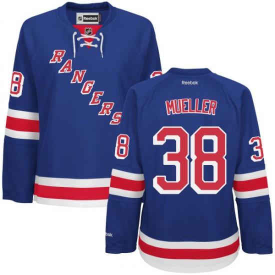 Women's Premier New York Rangers Chris Mueller Royal Blue Home Official Reebok Jersey
