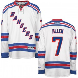 Adult Authentic New York Rangers Conor Allen White Away Official Reebok Jersey