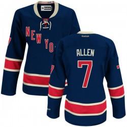 Women's Authentic New York Rangers Conor Allen Navy Blue Alternate Official Reebok Jersey
