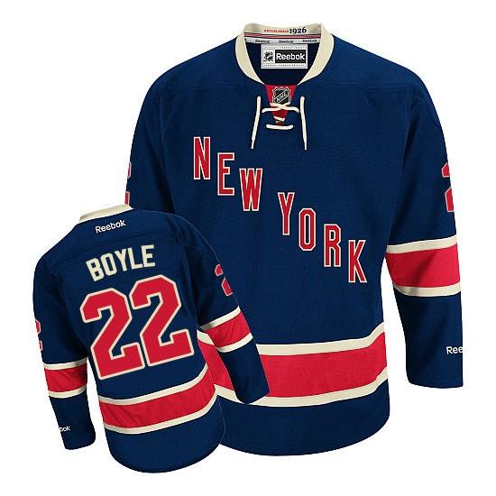 Adult Premier New York Rangers Dan Boyle Navy Blue Third Official Reebok Jersey