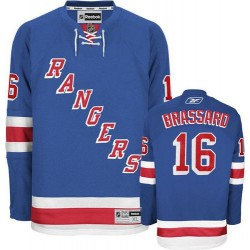 Adult Authentic New York Rangers Derick Brassard Royal Blue Home Official Reebok Jersey