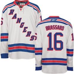 Adult Authentic New York Rangers Derick Brassard White Away Official Reebok Jersey