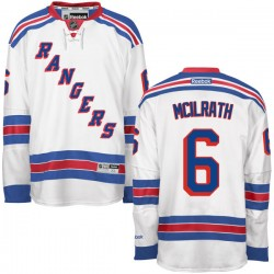 Adult Authentic New York Rangers Dylan Mcilrath White Away Official Reebok Jersey