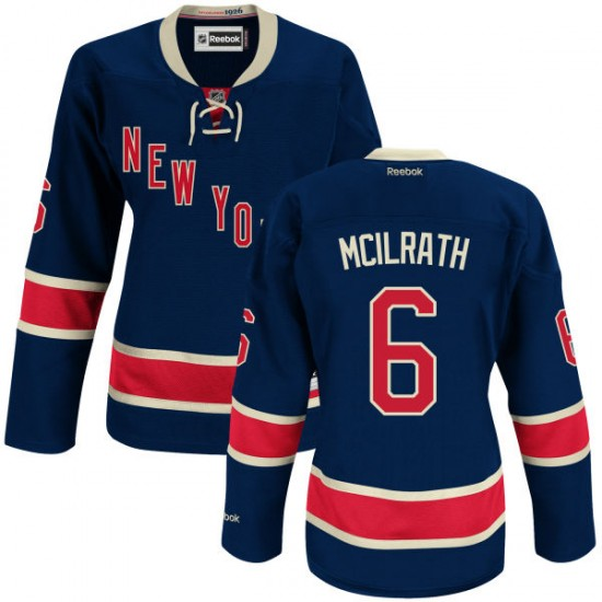 Women's Authentic New York Rangers Dylan Mcilrath Navy Blue Alternate Official Reebok Jersey