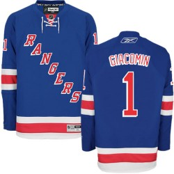 Adult Authentic New York Rangers Eddie Giacomin Royal Blue Home Official Reebok Jersey