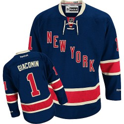Adult Authentic New York Rangers Eddie Giacomin Navy Blue Third Official Reebok Jersey