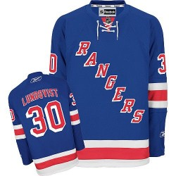 Adult Authentic New York Rangers Henrik Lundqvist Royal Blue Home Official Reebok Jersey