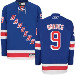 Adult Authentic New York Rangers Adam Graves Royal Blue Home Official Reebok Jersey