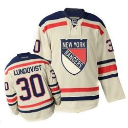 Adult Authentic New York Rangers Henrik Lundqvist Cream Winter Classic Official Reebok Jersey