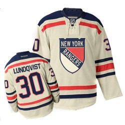 Adult Premier New York Rangers Henrik Lundqvist Cream Winter Classic Official Reebok Jersey