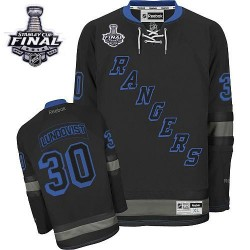 Adult Authentic New York Rangers Henrik Lundqvist Black Ice 2014 Stanley Cup Official Reebok Jersey