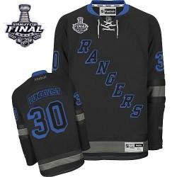 Adult Premier New York Rangers Henrik Lundqvist Black Ice 2014 Stanley Cup Official Reebok Jersey