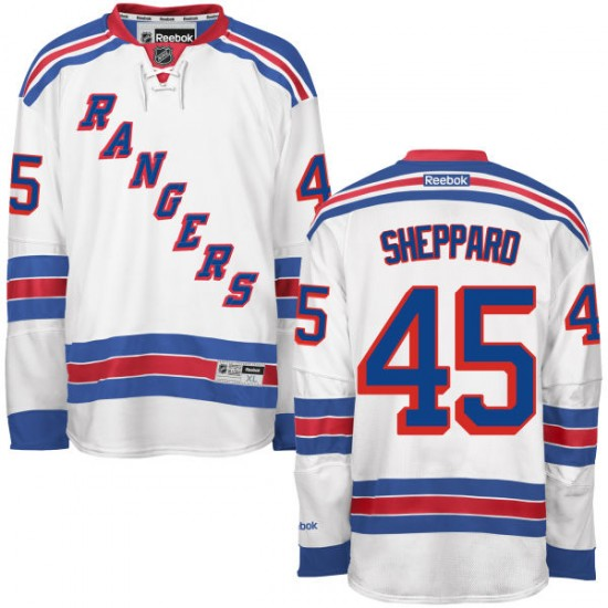 detailed look 1adbd 87a2a Adult Authentic New York Rangers James Sheppard White Away Official Reebok  Jersey