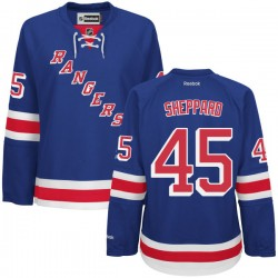 Women's Authentic New York Rangers James Sheppard Royal Blue Home Official Reebok Jersey