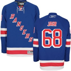 Adult Authentic New York Rangers Jaromir Jagr Royal Blue Home Official Reebok Jersey