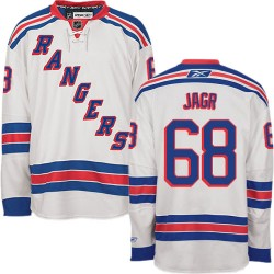 Adult Authentic New York Rangers Jaromir Jagr White Away Official Reebok Jersey