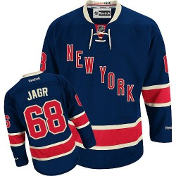 Adult Authentic New York Rangers Jaromir Jagr Navy Blue Third Official Reebok Jersey