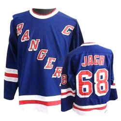 Adult Authentic New York Rangers Jaromir Jagr Royal Blue Throwback Official CCM Jersey