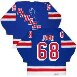 Adult Authentic New York Rangers Jaromir Jagr Royal Blue New Throwback Official CCM Jersey