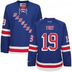 Women's Authentic New York Rangers Jesper Fast Royal Blue Home Official Reebok Jersey