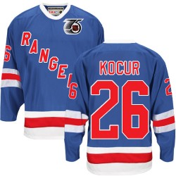 Adult Authentic New York Rangers Joe Kocur Royal Blue Throwback 75TH Official CCM Jersey