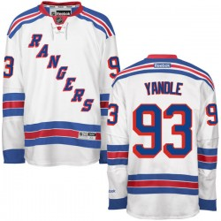 Adult Authentic New York Rangers Keith Yandle White Away Official Reebok Jersey