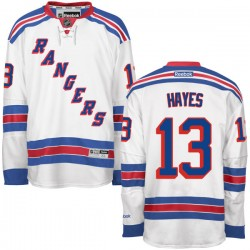 Adult Premier New York Rangers Kevin Hayes White Away Official Reebok Jersey