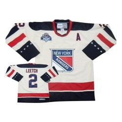 Adult Premier New York Rangers Brian Leetch White Winter Classic Official Reebok Jersey