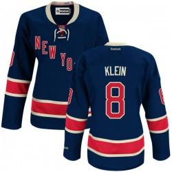 Women's Premier New York Rangers Kevin Klein Navy Blue Alternate Official Reebok Jersey
