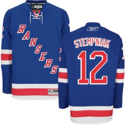 Adult Authentic New York Rangers Lee Stempniak Royal Blue Home Official Reebok Jersey