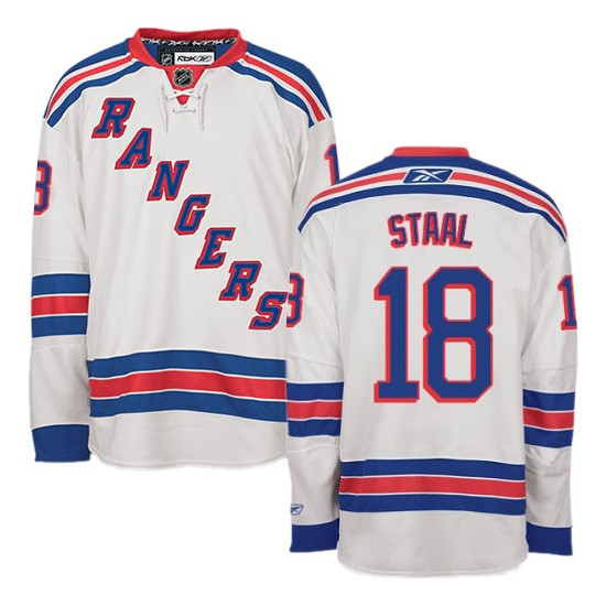 pretty nice 034e3 3161d Adult Authentic New York Rangers Marc Staal White Away Official Reebok  Jersey