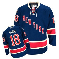 Adult Premier New York Rangers Marc Staal Navy Blue Third Official Reebok Jersey