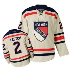 Adult Premier New York Rangers Brian Leetch Cream Winter Classic Official Reebok Jersey