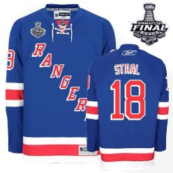 Adult Authentic New York Rangers Marc Staal Royal Blue Home 2014 Stanley Cup Official Reebok Jersey