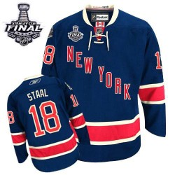Adult Authentic New York Rangers Marc Staal Navy Blue Third 2014 Stanley Cup Official Reebok Jersey