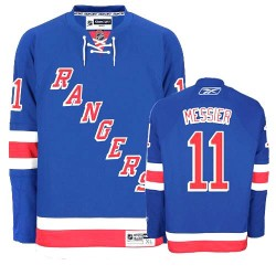 Adult Authentic New York Rangers Mark Messier Royal Blue Home Official Reebok Jersey