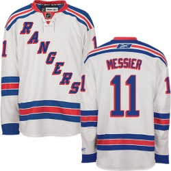 Adult Authentic New York Rangers Mark Messier White Away Official Reebok Jersey