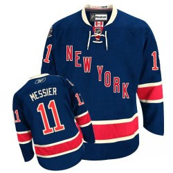 Adult Authentic New York Rangers Mark Messier Navy Blue Third Official Reebok Jersey