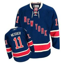 Adult Premier New York Rangers Mark Messier Navy Blue Third Official Reebok Jersey