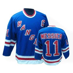Adult Premier New York Rangers Mark Messier Royal Blue Throwback Official CCM Jersey