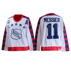 Adult Authentic New York Rangers Mark Messier White All Star Throwback 75th Official CCM Jersey