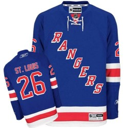 Adult Authentic New York Rangers Martin St. Louis Royal Blue Home Official Reebok Jersey