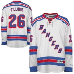 Adult Premier New York Rangers Martin St. Louis White Away Official Reebok Jersey