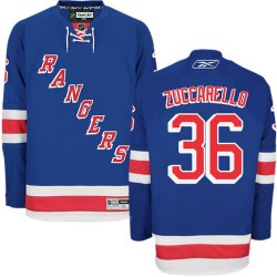 Adult Authentic New York Rangers Mats Zuccarello Royal Blue Home Official Reebok Jersey