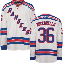 Adult Authentic New York Rangers Mats Zuccarello White Away Official Reebok Jersey