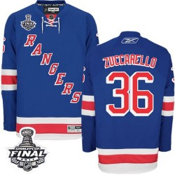 Adult Authentic New York Rangers Mats Zuccarello Royal Blue Home 2014 Stanley Cup Official Reebok Jersey