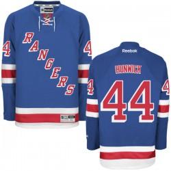 Adult Authentic New York Rangers Matt Hunwick Royal Blue Home Official Reebok Jersey