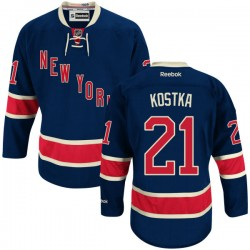 Adult Authentic New York Rangers Michael Kostka Navy Blue Alternate Official Reebok Jersey